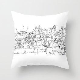 Brooklyn Rooftop Throw Pillow