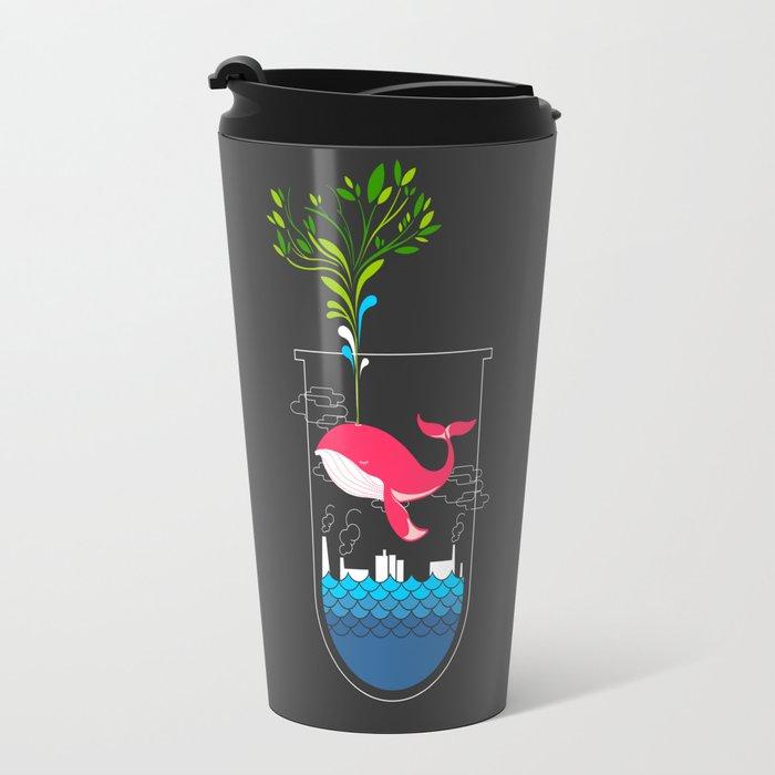Nature Whale Travel Mug