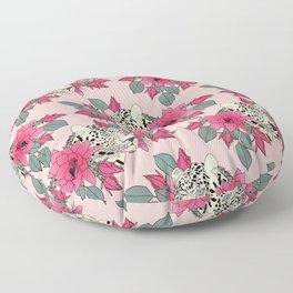 Classy cactus flowers and leopards design Floor Pillow