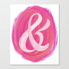 Thick Swirl Ampersand Warm Canvas Print