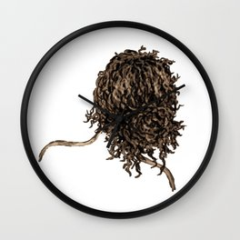 Messy dry curly hair 5 Wall Clock