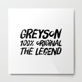 Personalized Name Greyson - Birthday Gift Metal Print