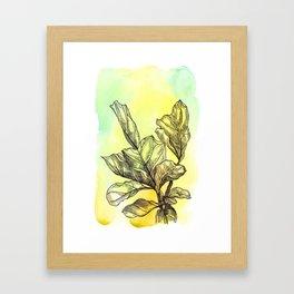 Plant Series: Green Framed Art Print