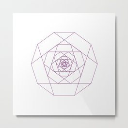 #281 Another rose – Geometry Daily Metal Print