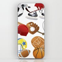 sports iPhone & iPod Skins featuring sports! by Dues Creatius