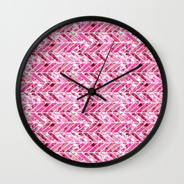 Cherry Bomb Chevron Wall Clock