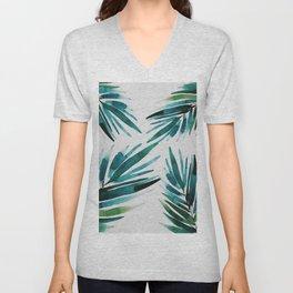 Dark Palm trees Unisex V-Neck