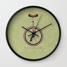 Unicycle Wall Clock