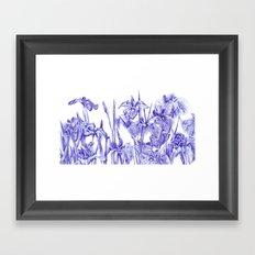Iris Field Framed Art Print