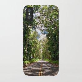 Tree Tunnel, Kauai, Hawaii iPhone Case