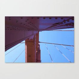 Looking Up, Walking the Golden Gate Canvas Print