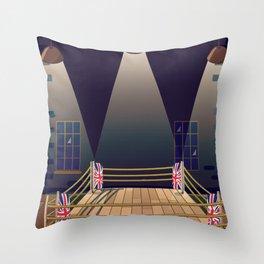 Cartoon Boxing ring gym Throw Pillow
