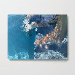 Underwater Art FEET 2 Metal Print