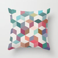 jenny liz rome Throw Pillows featuring Jenny by LHD2