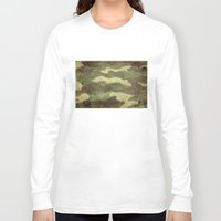 camo Long Sleeve T-shirts featuring Dirty Camo by Bruce Stanfield