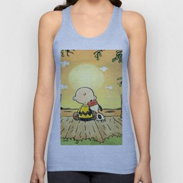 relax calvin snoopy Unisex Tank Top