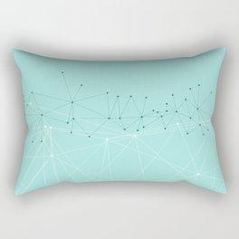 LIGHT LINES ENSEMBLE IX TURQUOISE Rectangular Pillow