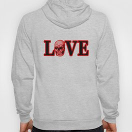 Love Red Skull The MUSEUM Zazzle Gifts Hoody