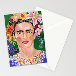 Queen Mother of Flowers - Frida collection - Stationery Cards