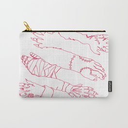 Classic Horror Hands (Red Line) Carry-All Pouch