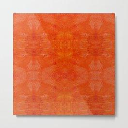 Aztec in orange Metal Print