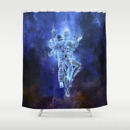 Deep Space Embrace Shower Curtain