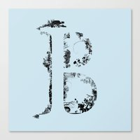 font Canvas Prints featuring B FONT by riz lau