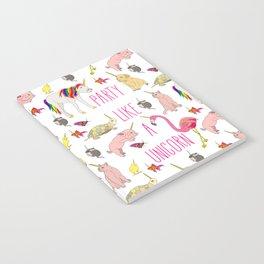 Party Like A Unicorn Notebook