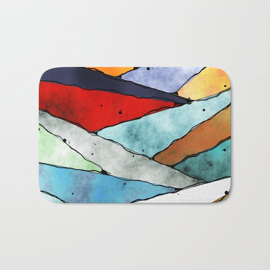Angles of Textured Colors Bath Mat