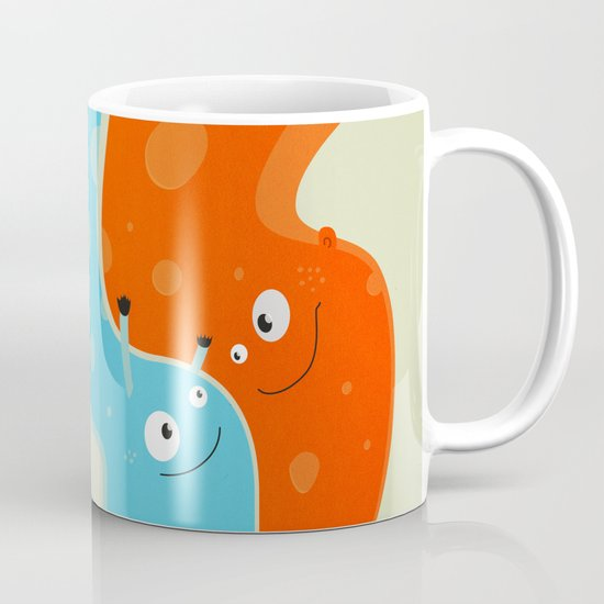 Hugging Cute Cartoon Characters Mug