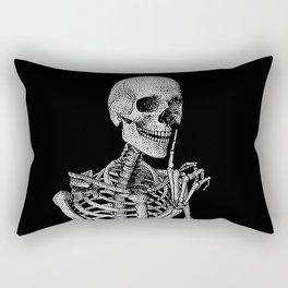 Silence please Rectangular Pillow