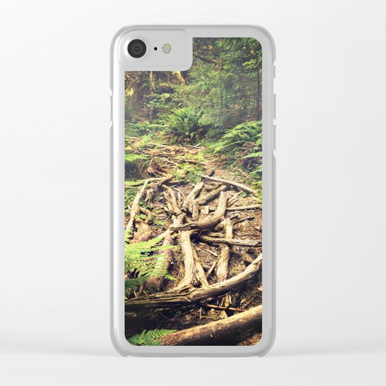 Misty Rainforest Clear iPhone Case