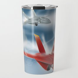 Jet Plane Dogfight Travel Mug