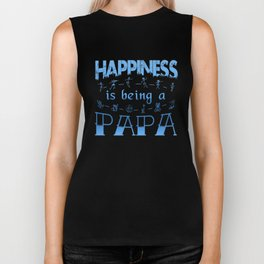 Happiness is Being a PAPA Biker Tank
