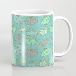 Splashing Umbrellas Pattern Coffee Mug