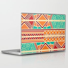 Tribal ethnic geometric pattern 027 Laptop & iPad Skin