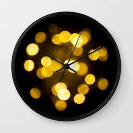 defocused lights Wall Clock