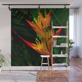 Hawaiian Heliconia at First Light Wall Mural