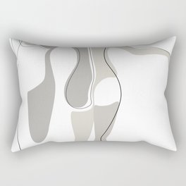 Eggshell Exhibit Rectangular Pillow