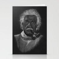 einstein Stationery Cards featuring Einstein by Paula Leão