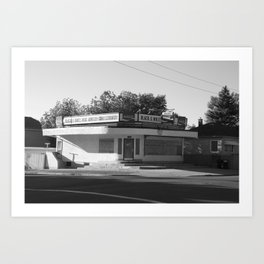 Black and White Grocery 1 Art Print