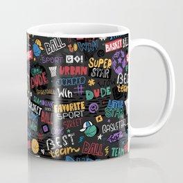 Basketball pattern. Little star. Coffee Mug