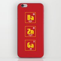 bazinga iPhone & iPod Skins featuring BAZINGA- tbbt by :: Fan art ::