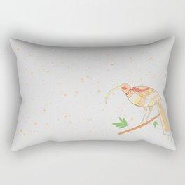 New Zealand Native Birds -  Huia Rectangular Pillow