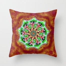 Eye Mandala Red Throw Pillow