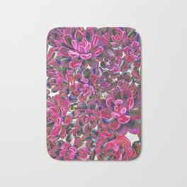 Floral tribute [red velvet] Bath Mat