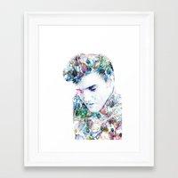 elvis presley Framed Art Prints featuring Elvis Presley by NKlein Design