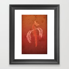 Dragon in red Framed Art Print