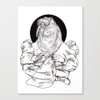 walrus Canvas Prints featuring Walrus by Hopler Art