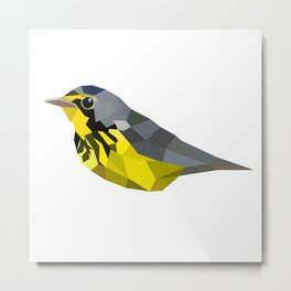 Bird art canada warbler Yellow gray Metal Print